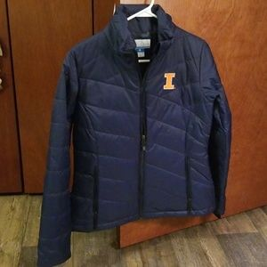 ILLINOIS/ILLINI COLUMBIA DARK BLUE COAT SZ M